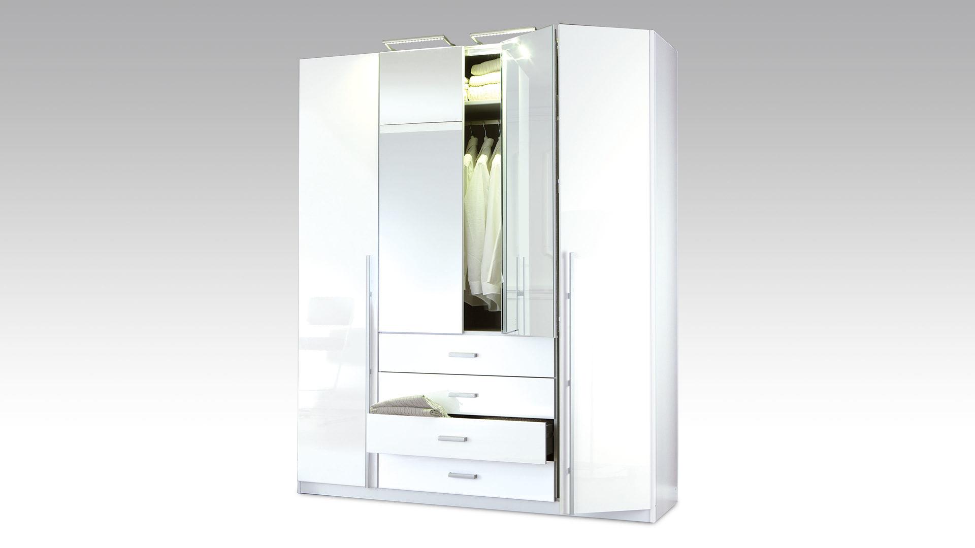 Kleiderschrank weiß hochglanz mit spiegel  Möbel Janz Schönkirchen | Räume | Schlafzimmer | Kleiderschränke ...