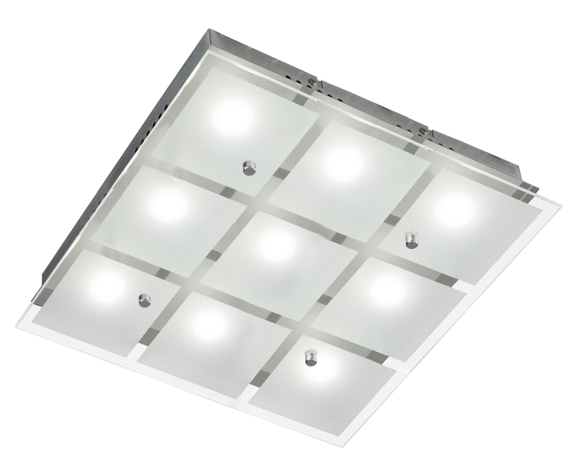 Raeume-Schlafzimmer-Lampen-und-Leuchten-Deckenleuchte-Esto-aus-Glas-Metall-in-Weiss-ESTO-LED-Wand-und-Deckenleuchte-Kendo-Chrom-und-teilsatiniertes-Glas-sechsflammig-ca-37-x-37-cm-guenstiger Stilvolle Lampen In Der Wand Dekorationen