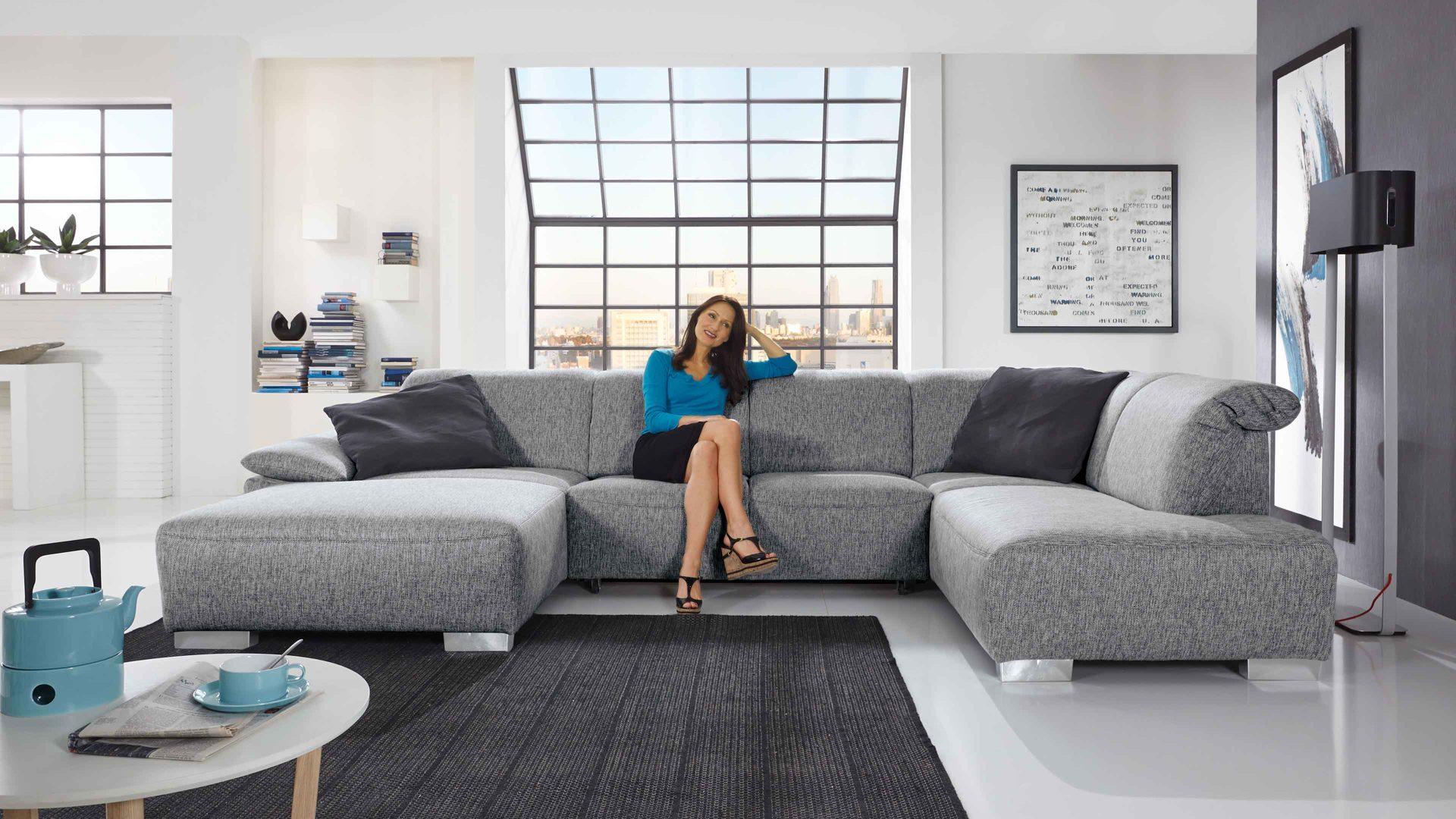 Eckcouch u form  Moderne Eckcouch: Möbel rehmann velbert räume wohnzimmer sofas ...